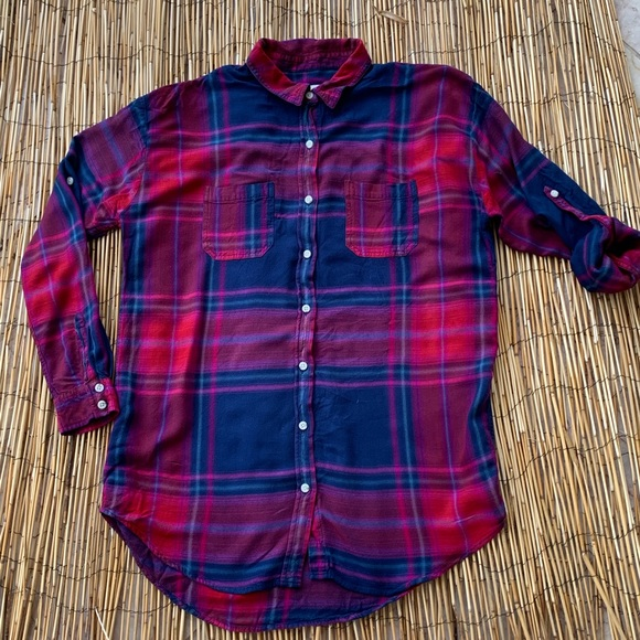Mossimo Supply Co. Tops - MOSSMO SUPPLY CO. TUNIC LENGTH FLANNEL SZ M
